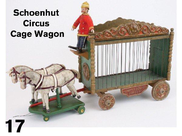 17: Schoenhut Circus Cage Wagon