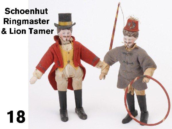 18: Schoenhut Ringmaster & Lion Tamer