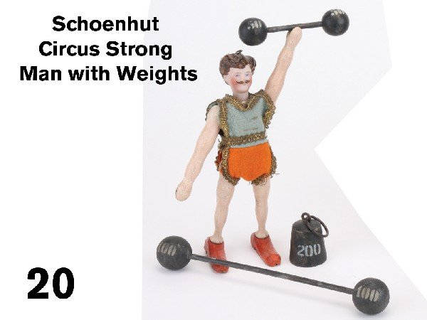 20: Schoenhut Circus Strong Man with Weights