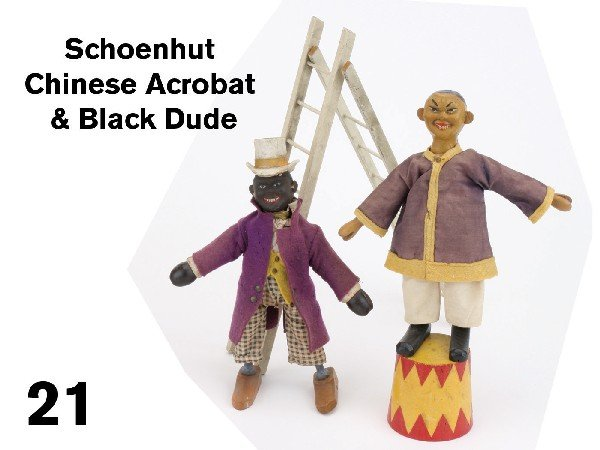 21: Schoenhut Chinese Acrobat & Black Dude