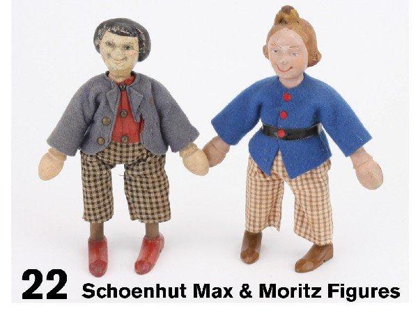 22: Schoenhut Max & Moritz Figures