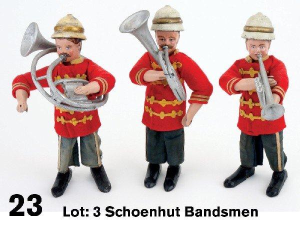 23: Lot: 3 Schoenhut Bandsmen