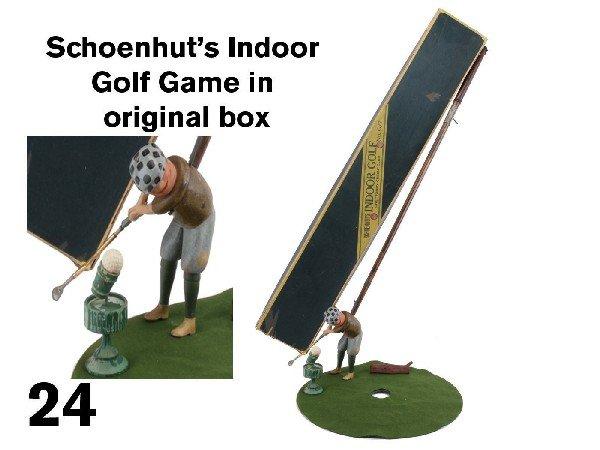 24: Schoenhut's Indoor Golf Game in original box