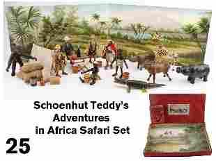 25: Schoenhut Teddy's Adventures in Africa Safari Set