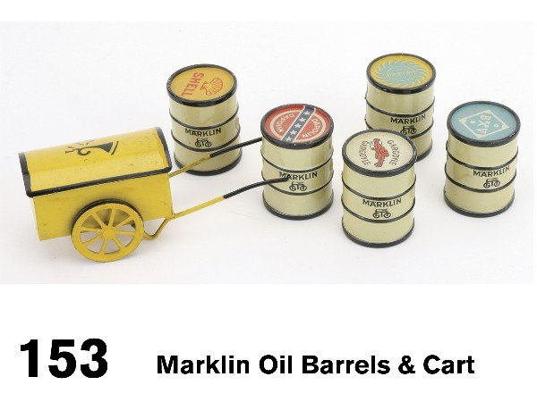 153: Marklin Oil Barrels & Cart