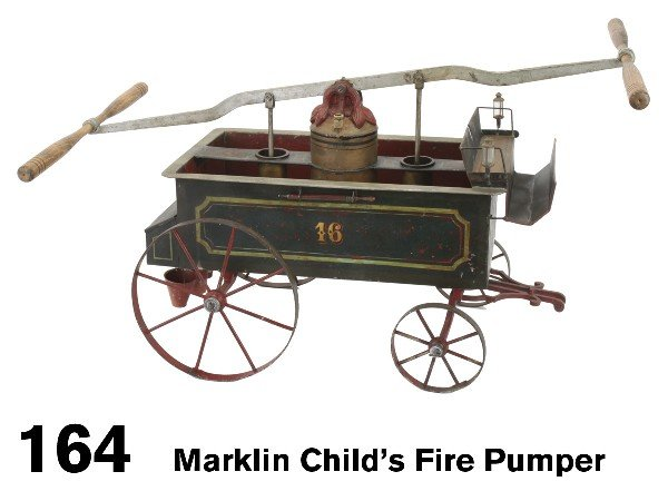 164: Marklin Child's Fire Pumper