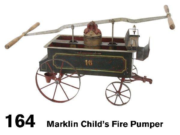 164: Marklin Child's Fire Pumper