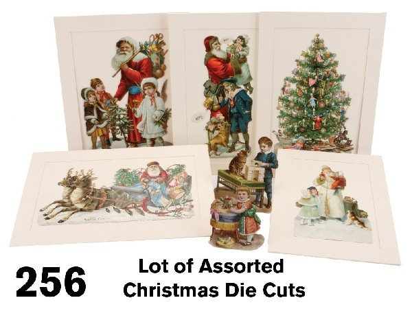 256: Lot of Assorted Christmas Die Cuts