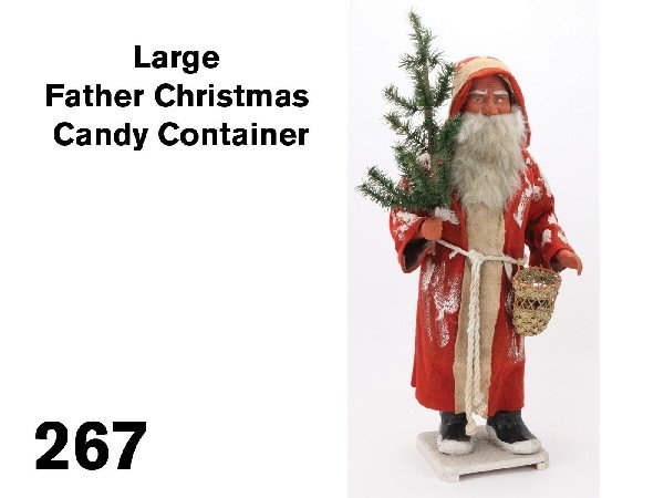 267: Large Father Christmas Candy Container