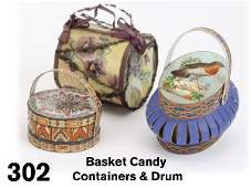 302 Basket Candy Containers  Drum