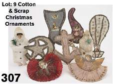 307 Cotton  Scrap Christmas Ornaments