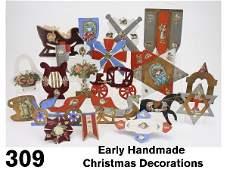 309 Early Handmade Christmas Decorations