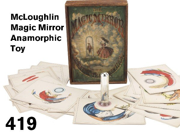 419: McLoughlin Magic Mirror Anamorphic Toy