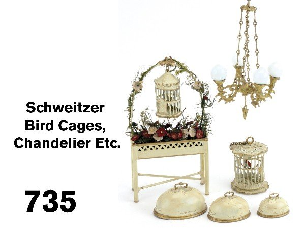 735: Schweitzer Bird Cages, Chandelier Etc.