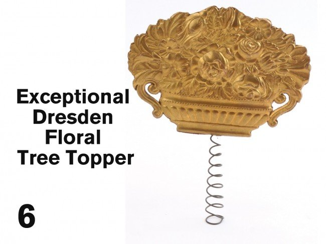 6: Exceptional Dresden Floral Tree Topper