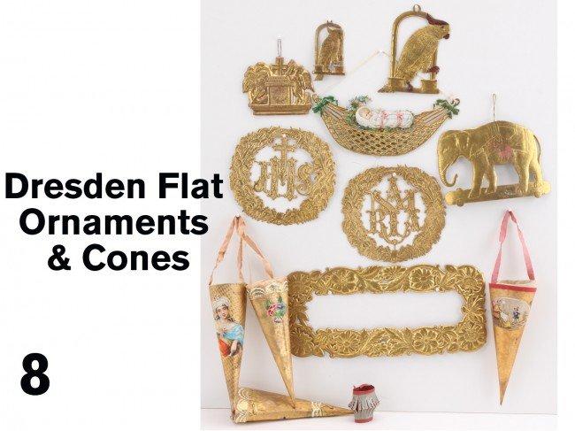 8: Dresden Flat Ornaments & Cones