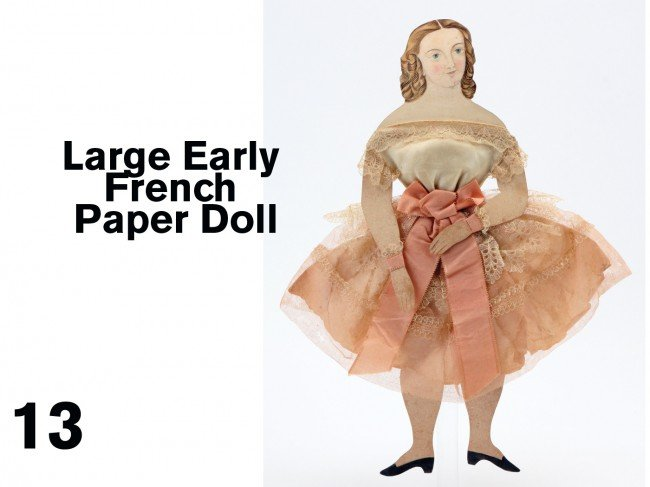 13: Large Early French Paper Doll
