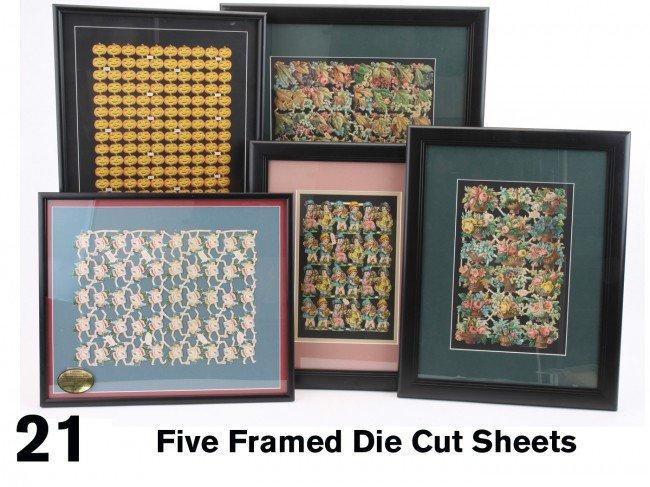 21: Five Framed Die Cut Sheets