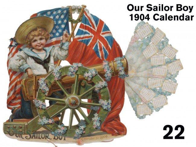 22: Our Sailor Boy 1904 Calendar
