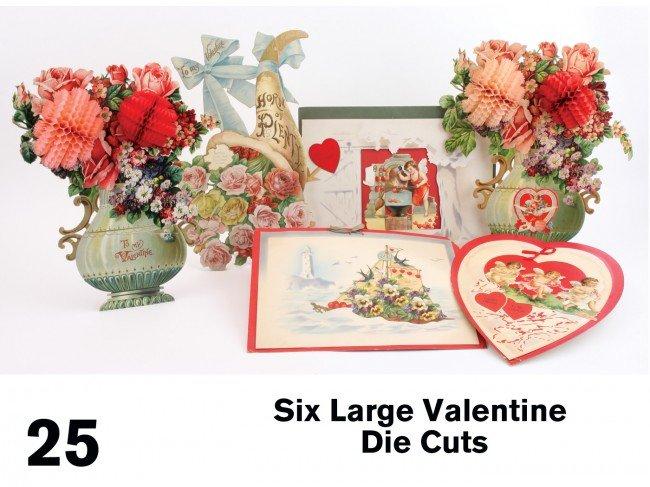 25: Six Large Valentine Die Cuts