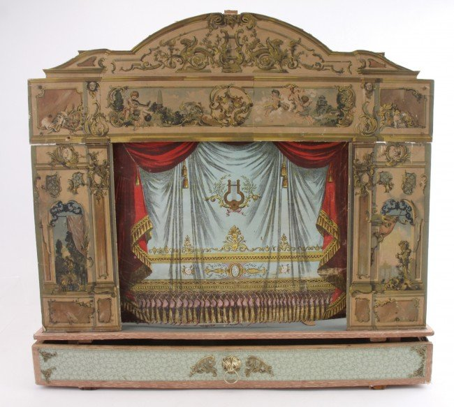 316: German Toy Theater with Curtain - 2