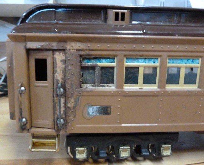 674: Lionel 408E Standard Gauge Passenger Set-Brown - 2