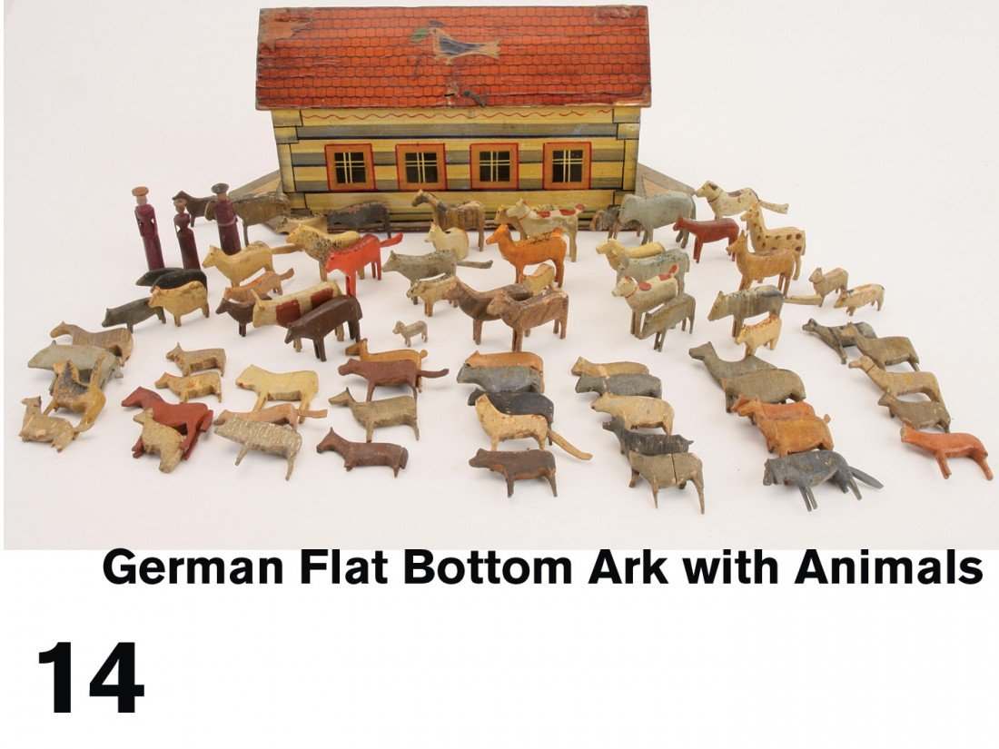 14: German Flat Bottom Ark with Animals
