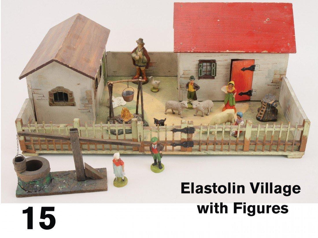 15: Elastolin Village with Figures