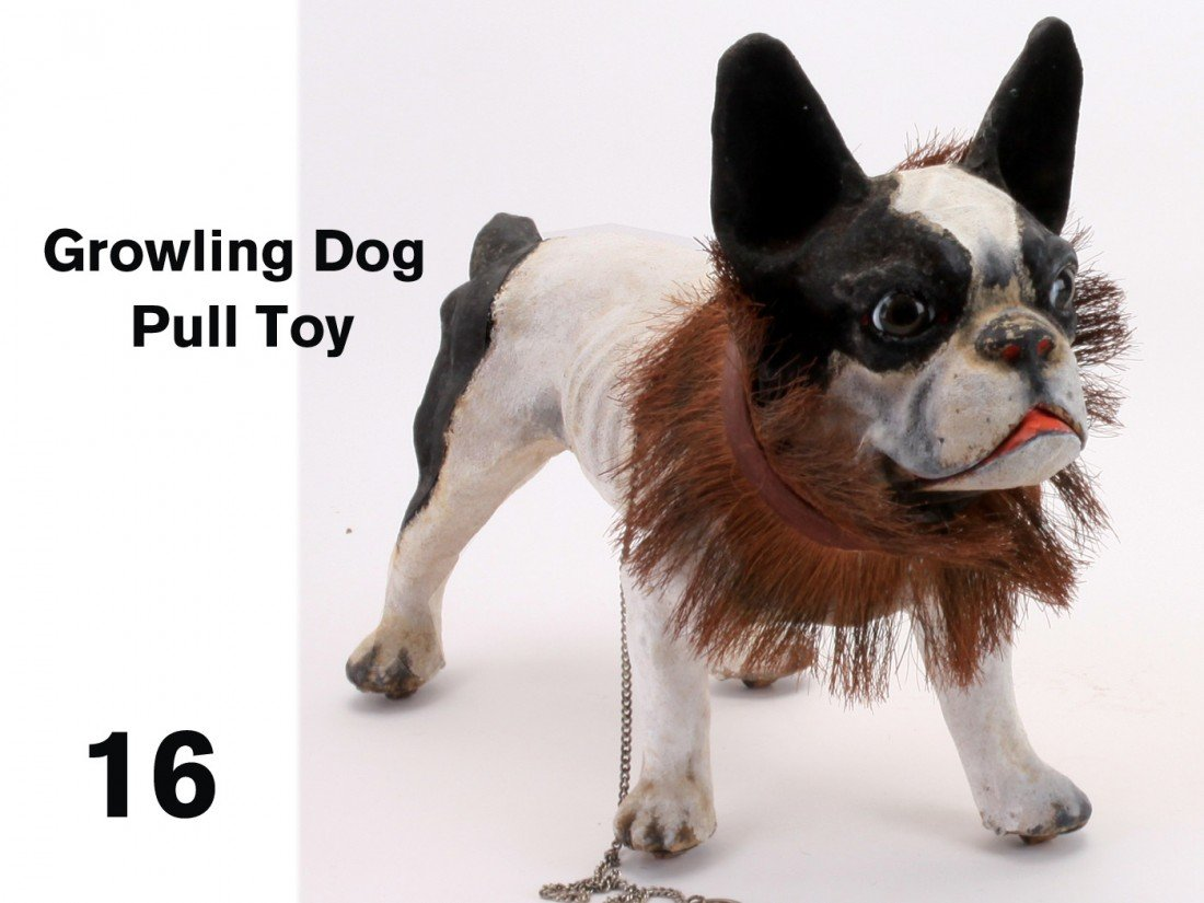 16: Growling Dog Pull Toy