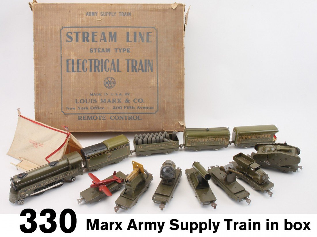 330: Marx Army Supply Train in box