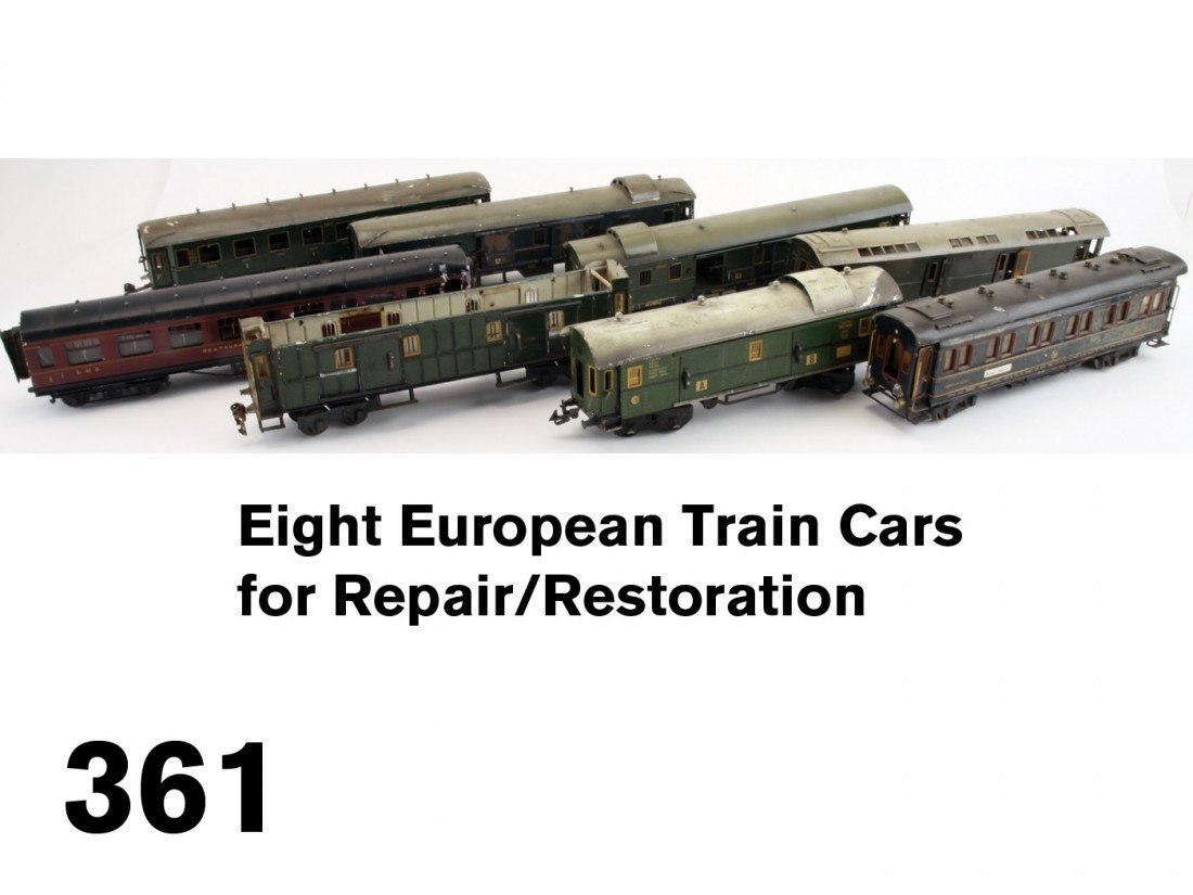 361: Eight European Train Cars for Repair/Restoration