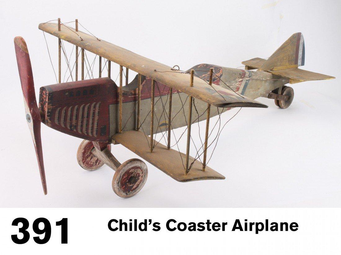 Child's Coaster Airplane