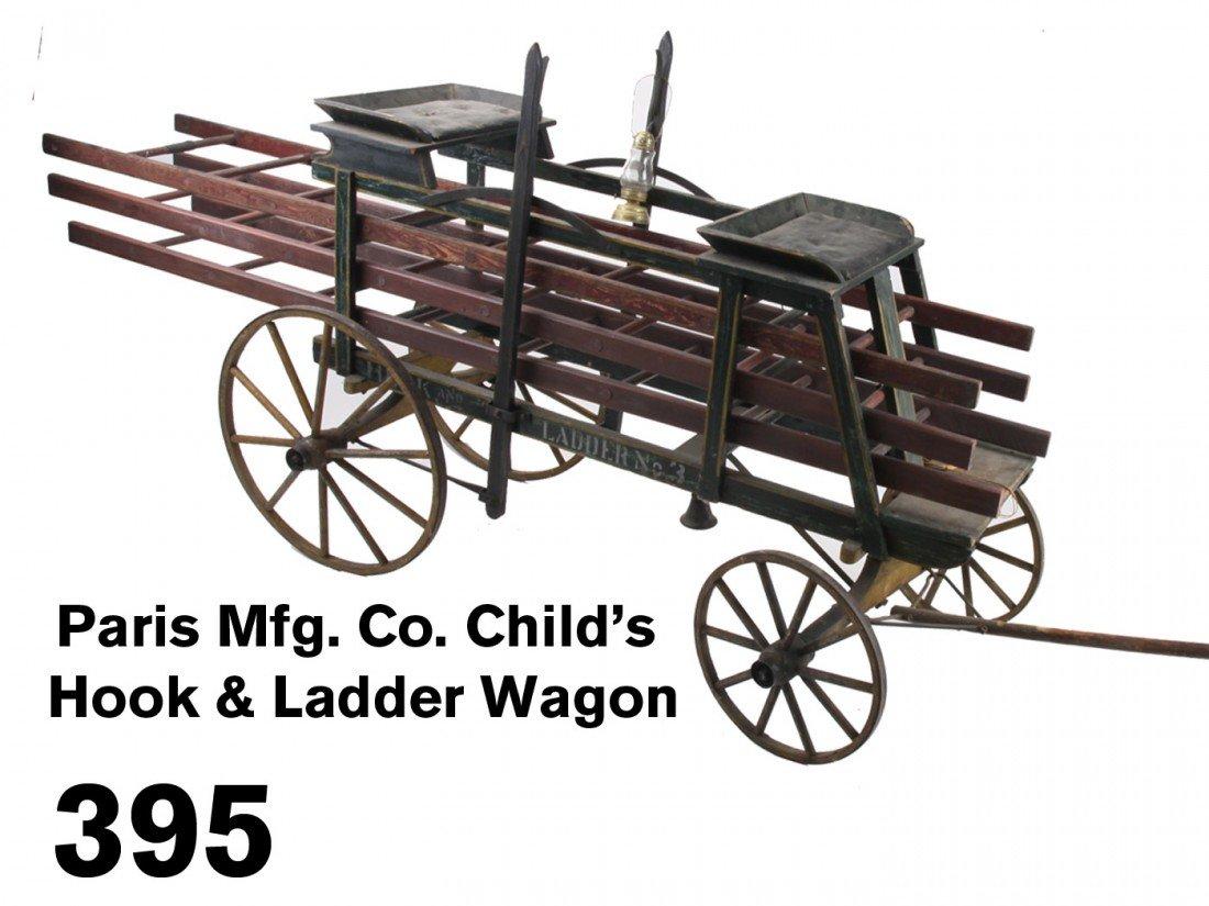 Paris Mfg. Co. Child's Hook & Ladder Wagon