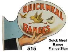 Quick Meal Range Flange Sign