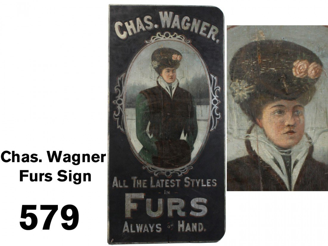 Chas. Wagner Furs Sign