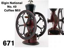 Elgin National No. 40 Coffee Mill