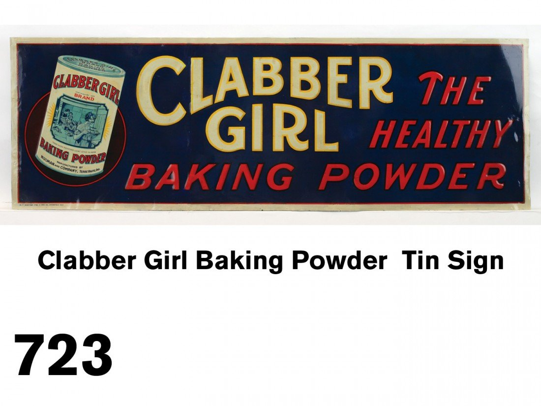 Clabber Girl Baking Powder  Tin Sign