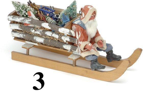 3: Santa in Wood Slat Sleigh