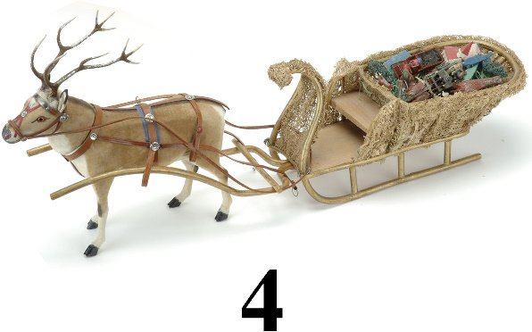 4: Loofa Sled with Candy Container Reindeer
