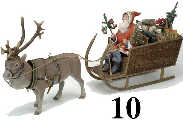 10: Santa in Sleigh with Nodding Reindeer