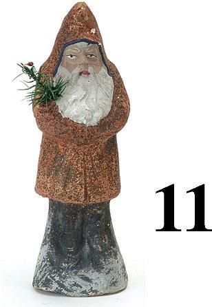"""11: Belsnickle- Red/Orange Coat - 8"""""""