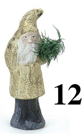 """12: Belsnickle-Gold Fleck Coat -5.75"""""""