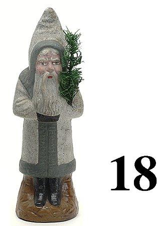 "18: Belsnickle - gray coat - 12"""