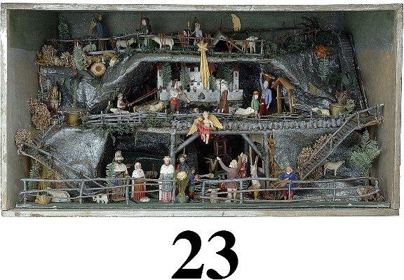 23: Creche in Glass front Box