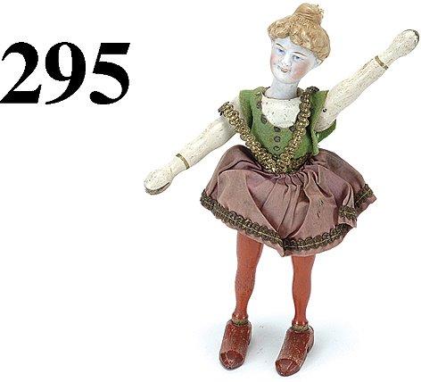 295: Schoenhut Lady Bare Back Rider - bisque head
