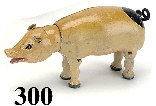 300: Schoenhut Pig - Glass eye