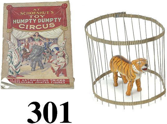 301: Schoenhut Tiger with Cage and Catalog