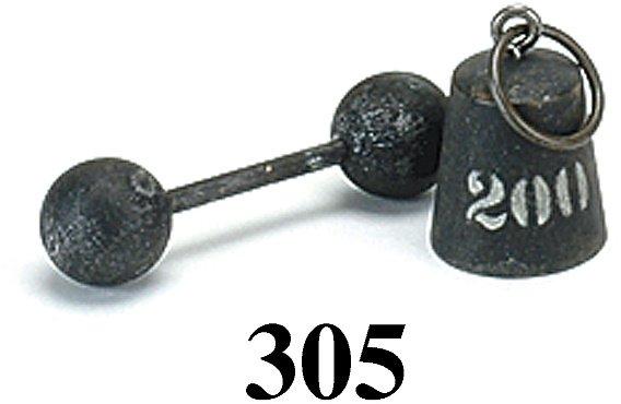 305: Lot: Schoenhut 200 lb. Weight & Barbell