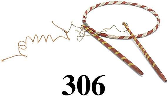 306: Lot: Schoenhut Hoop & 2 whips