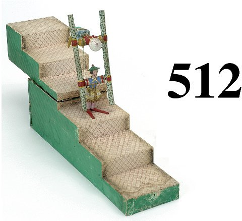 512: Mercury Tumbling Toy with steps - green